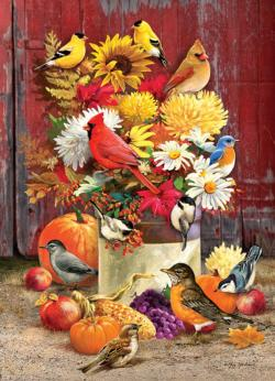 Autumn Bouquet Flowers Jigsaw Puzzle