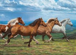 Windswept Horses Jigsaw Puzzle
