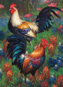 Roosters Chickens & Roosters Jigsaw Puzzle