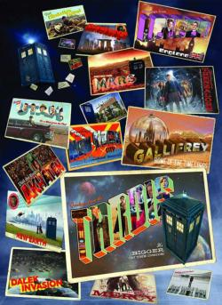 Doctor Who: Postcards Sci-fi Jigsaw Puzzle