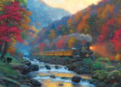 Smoky Train Trains Jigsaw Puzzle