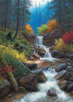 Mountain Cascade Lakes / Rivers / Streams Jigsaw Puzzle