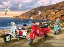 Scooters Seascape / Coastal Living Jigsaw Puzzle