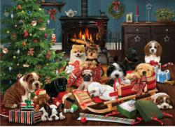 Christmas Puppies - Scratch and Dent Christmas Jigsaw Puzzle