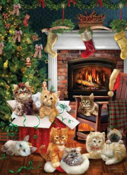 Christmas Kittens Christmas Jigsaw Puzzle