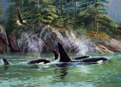 Orcas Under The Sea Jigsaw Puzzle