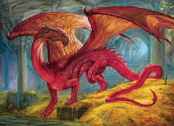 Red Dragon's Treasure Dragons Jigsaw Puzzle