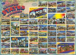 Vintage American Postcards Nostalgic / Retro Jigsaw Puzzle