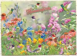 Hummingbirds Flowers Jigsaw Puzzle