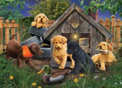In the Doghouse Dogs Jigsaw Puzzle