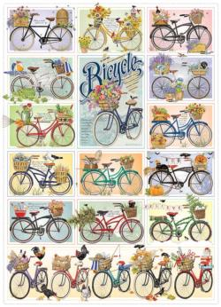 Bicycles Collage Jigsaw Puzzle