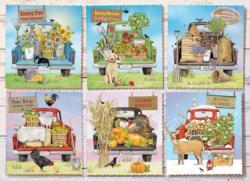 Farmer's Market Trucks Flowers Jigsaw Puzzle