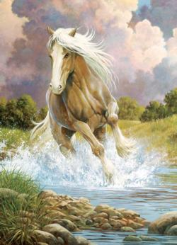 River Horse Horses Jigsaw Puzzle