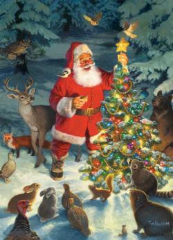 Santa's Tree Christmas Jigsaw Puzzle