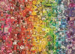 Colourful Rainbow Collage Jigsaw Puzzle