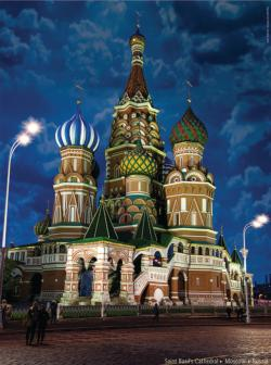 Saint Basil's Cathedral (Famous Places) Churches Jigsaw Puzzle