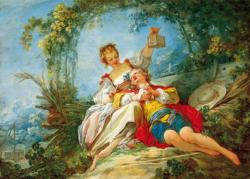 Happy Lovers (Fragonard) People Jigsaw Puzzle