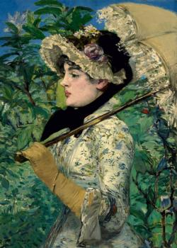 Spring (Manet) Impressionism Jigsaw Puzzle