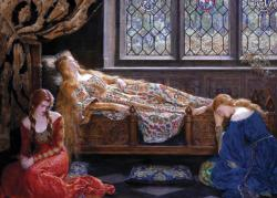 The Sleeping Beauty Pre-Raphaelite Art Jigsaw Puzzle