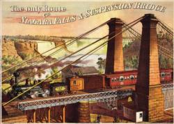 Niagara Falls Suspension Bridge Nostalgic / Retro Jigsaw Puzzle