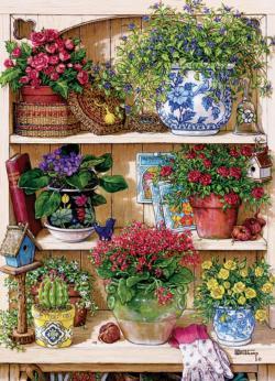 Flower Cupboard Garden Jigsaw Puzzle