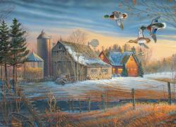 Farmstead Flyby Birds Jigsaw Puzzle