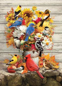 Fall Harvest Flowers Jigsaw Puzzle