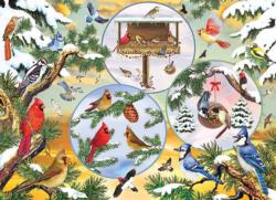 Winterbird Magic Collage Jigsaw Puzzle