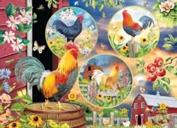 Rooster Magic Collage Jigsaw Puzzle