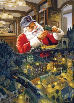 Santa's Railway Santa Jigsaw Puzzle