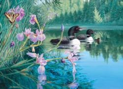 Iris Cove Loons Lakes / Rivers / Streams Jigsaw Puzzle