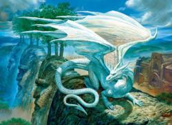 White Dragon Dragons Jigsaw Puzzle