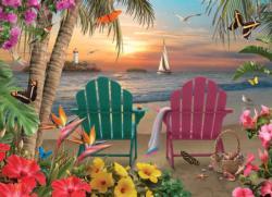 Island Paradise Sunrise / Sunset Jigsaw Puzzle