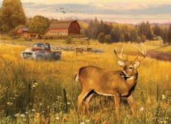 Deer Field Landscape Jigsaw Puzzle