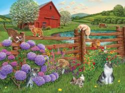 Farm Cats Farm Jigsaw Puzzle