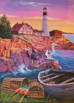 Lighthouse Cove Seascape / Coastal Living Jigsaw Puzzle