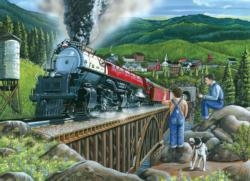Steaming Out of Town Bridges Jigsaw Puzzle