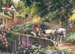 Carriage Ride Garden Large Piece