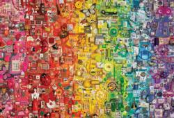 Rainbow Abstract Jigsaw Puzzle