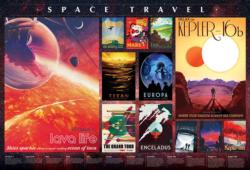 Space Travel Posters Collage Jigsaw Puzzle