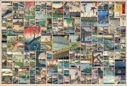 100 Famous Views of Edo - Scratch and Dent Collage