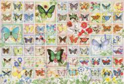 Butterflies and Blossoms Collage Jigsaw Puzzle