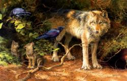 The Food Critic Wolves Jigsaw Puzzle