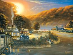 Days Gone By Sunrise/Sunset Jigsaw Puzzle