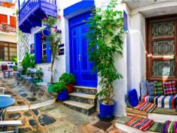 Greek Alley Greece Jigsaw Puzzle