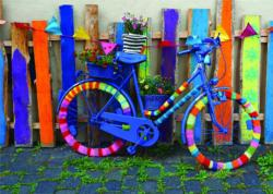Groovy Bicycle Bicycles Jigsaw Puzzle