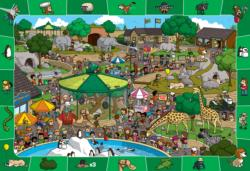 A Day at the Zoo Cartoons Children's Puzzles