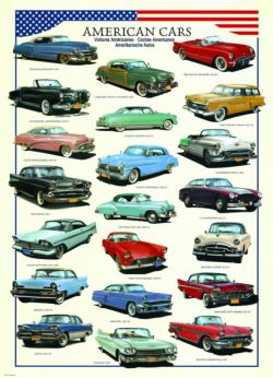 American Cars of the 1950's (Small Box) Pattern / Assortment Jigsaw Puzzle