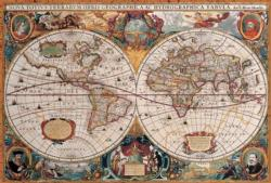 Antique World Map Geography Jigsaw Puzzle