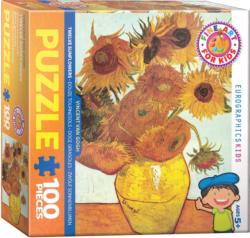 Twelve Sunflowers Sunflower Jigsaw Puzzle